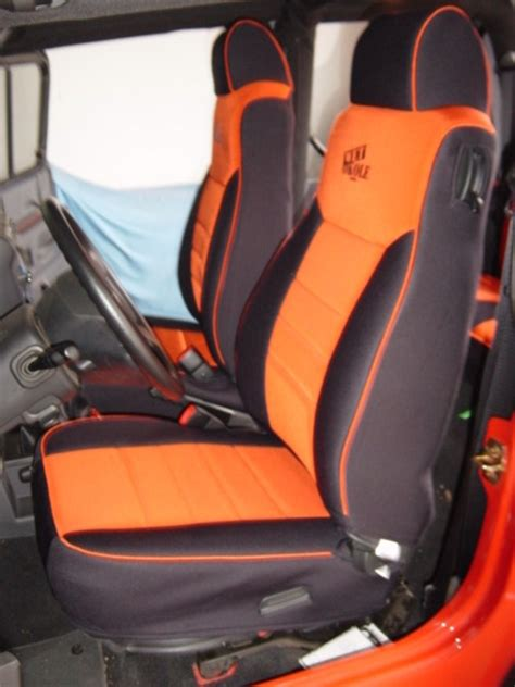 Orange Jeep Seat Covers Jeep Wrangler Realtree Seat Covers 65 83 Low Back