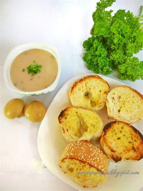 dapur aida garlic bread  mushroom soup