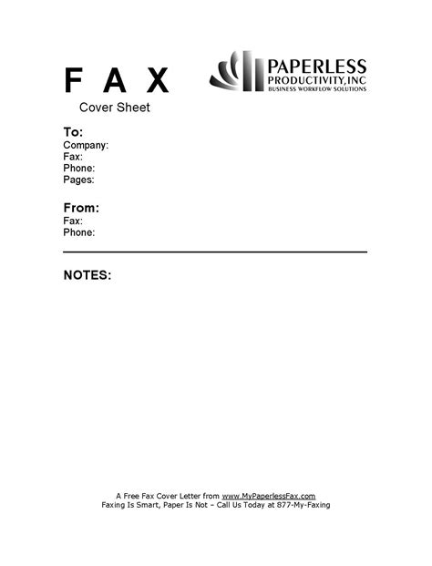 free sle fax cover sheets my paperless fax