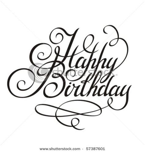 happy birthday calligraphy design elements calligraphy