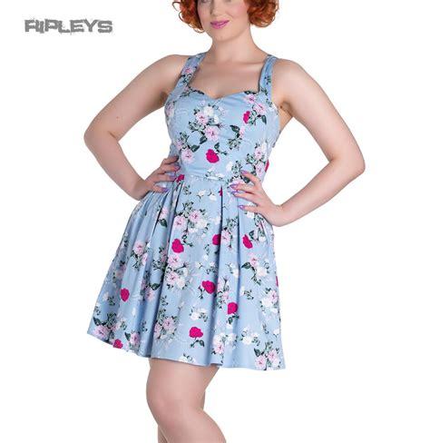 Sandal Trendy Blue Flowerrabbit hell bunny summer mini dress belinda floral flowers blue all sizes ebay