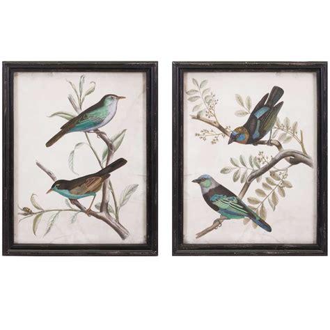 printable wall art birds framed bird prints set of 2 in wall decor