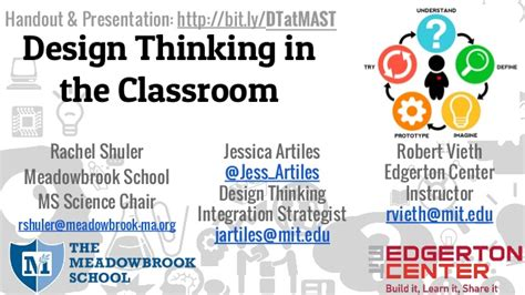 design thinking in the classroom mast workshop design thinking in the classroom