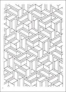 3d coloring book 3d for adults coloring pages