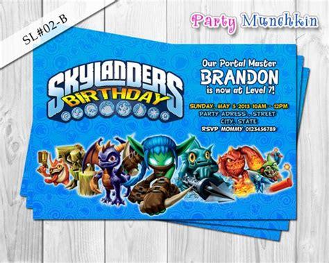 printable birthday cards skylanders skylanders invitations skylanders digital invite