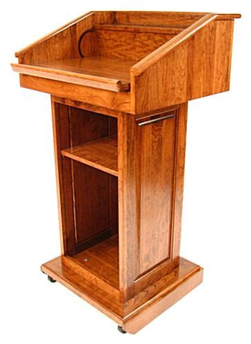 amazon com lewisberg solid wood dark cherry finish portable dark oak pulpit presentation podium