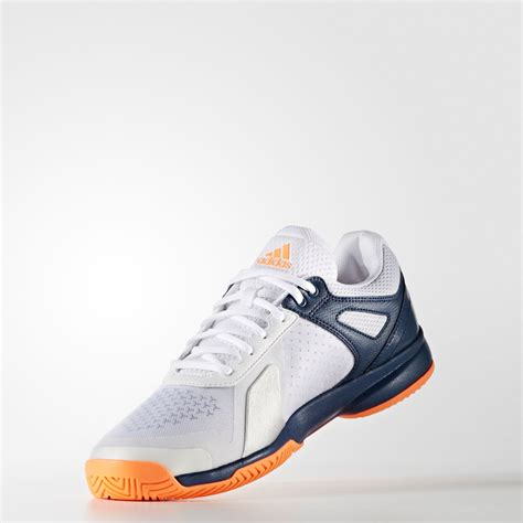 sports shoes for mens adidas adizero mens white blue tennis court sports shoes