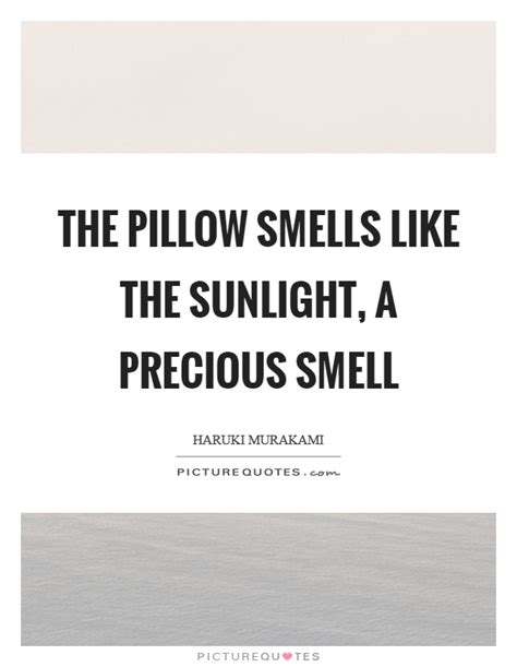 Pillow Smells Like You by The Pillow Smells Like The Sunlight A Precious Smell