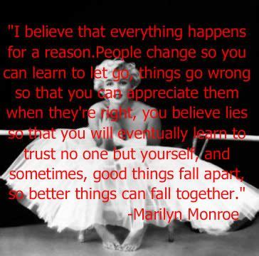 everything happens for a reason and other lies i ve loved books 17 best ideas about marilyn quotes on marilyn