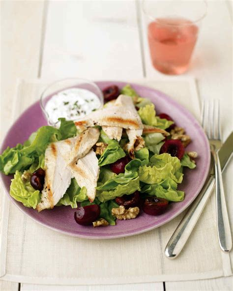 chicken salad recipes martha stewart seared chicken salad with cherries and goat cheese
