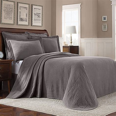 bed bath and beyond williamsburg buy williamsburg abby full bedspread in grey from bed bath