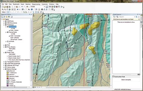 arcgis tutorial for geologists editing with feature templates arcuser