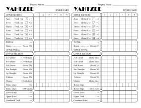 yahtzee score pad template yatzee printable score sheets yahtzee score card all