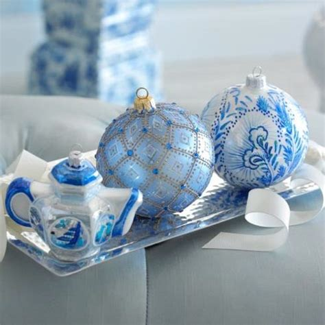 white blue ornaments 35 frosty blue and white d 233 cor ideas digsdigs