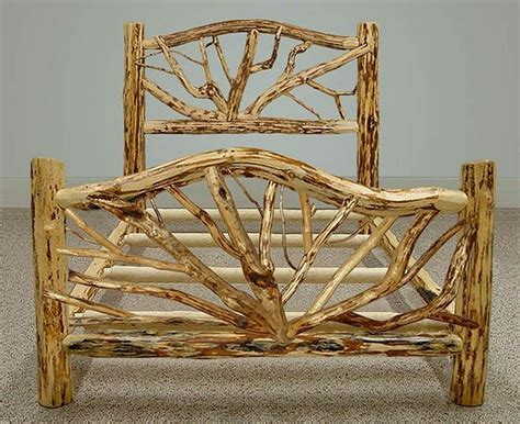 Log Frame Beds Warm And Inviting Rustic Log Beds The Owner Builder Network