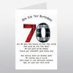 verse for 70th birthday card embroidered originals happy 70th birthday tartan verse