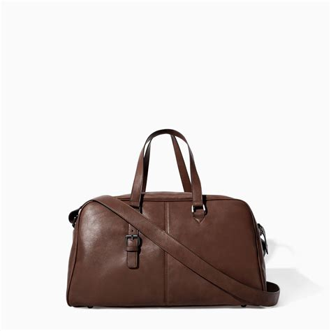 Zara Bag Z125 Brown zara bowling bag with buckle in brown for lyst