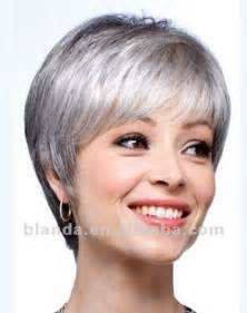 wigs for thin bangs styles source grey human hair short bob style lace wig on m