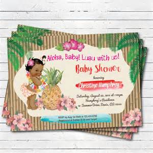 luau baby shower invitation hawaiian vintage