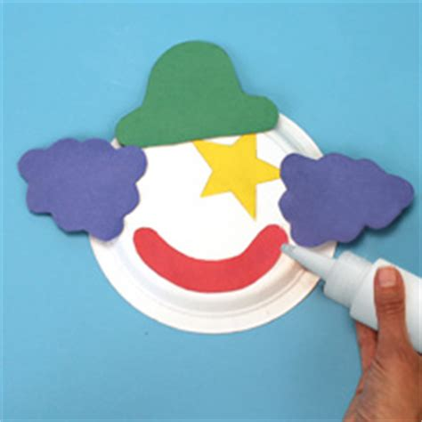Paper Plate Clown Craft - paper plate clown craft project ideas