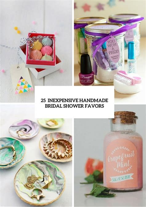 Handmade Bridal Shower Gifts - 25 inexpensive yet handmade bridal shower favors