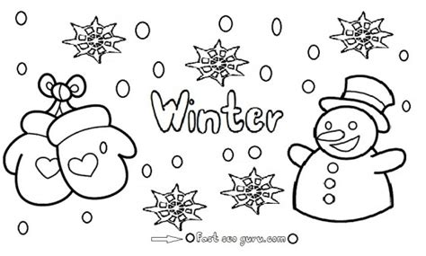 coloring page of winter season winter coloring pages coloring pages