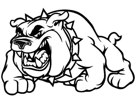 Scary Bulldog Coloring Pages Best Place To Color Scary Coloring Pages
