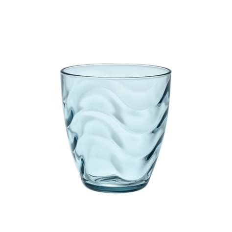 bicchiere acqua in vetro colorato coincasa