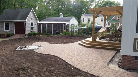 patios hardscapes tsp landscaping grading patio