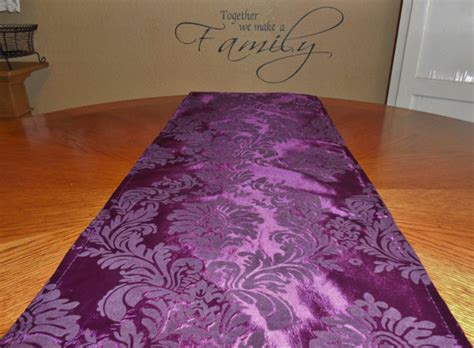 Purple Table Runners by Damask Eggplant Purple Table Runner Table By