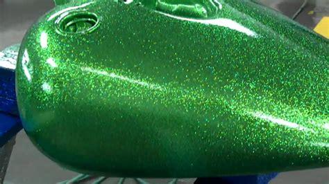 Rak Serbaguna Green Steel Colour green metalflake on a sportster