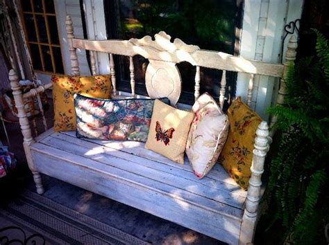 shabby chic garden bench creative reuse shabby chic garden bench apartment therapy