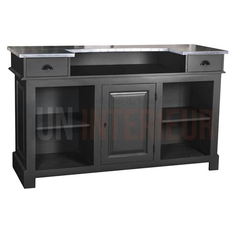 meuble bar comptoir meuble bar zinc 160cm pin massif