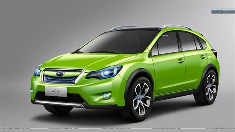 green subaru subaru concept fonr pose in green color wallpaper