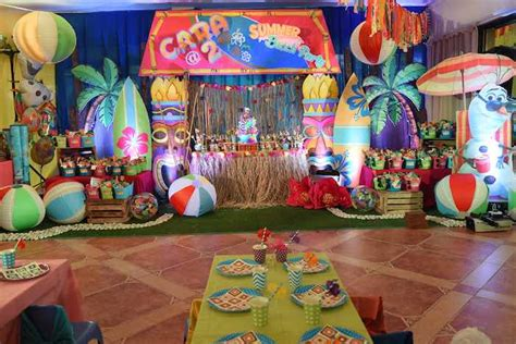 party themes for the summer kara s party ideas olaf s tropical summer birthday party