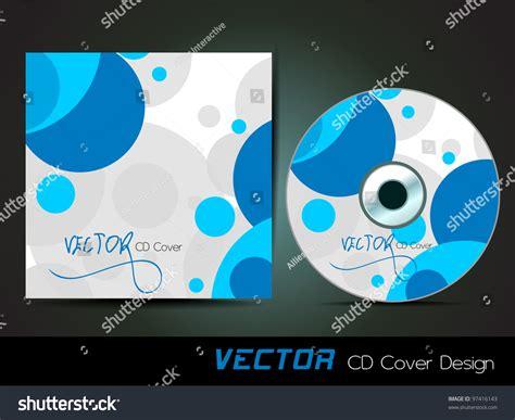 cd cover design vector vector cd cover design blue circles stock vector 97416143