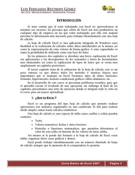 tutorial excel 2010 basico pdf ejercicios excel 2007 basico pdf tutoriales gratis de