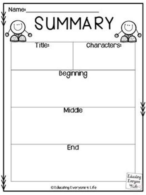 Writing A Summary Worksheet by Free Writing A Summary Graphic Organizer Click Here To
