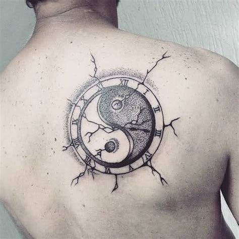 tattoo cover up yin yang upper back cover up with outstanding yin yang tattoo for