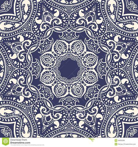 Muster Indisch by Mandala Indisches Dekoratives Muster Stock Abbildung