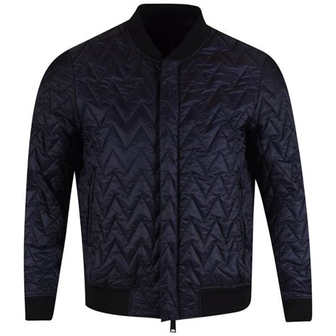 Armani Quilted Jacket by Armani Armani Navy Quilted Bomber Jacket