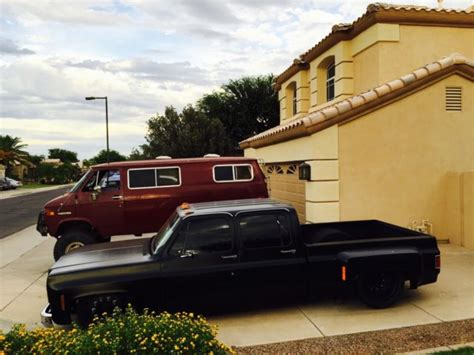 short bed dually 87 bagged crew cab short bed chevy dually