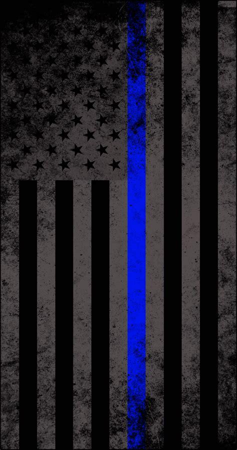 Wallpaper Sticker Fresh Blue Line american subdued thin blue line flag decal american responder designs