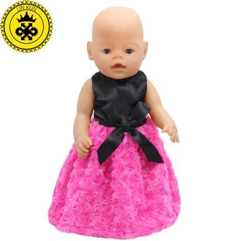 black zapf doll fit 43cm zapf baby born doll clothes black shirt