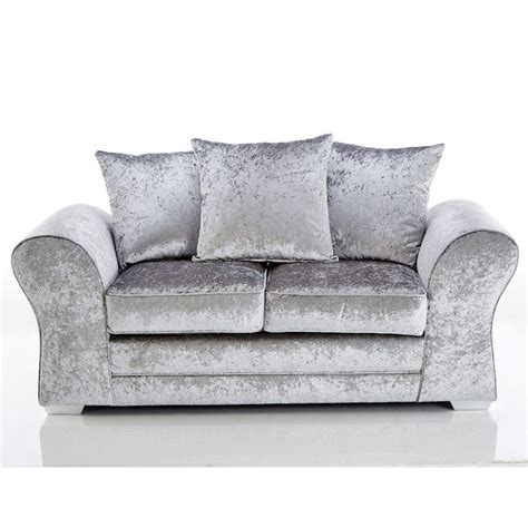 sofa and loveseat combo jupiter 3 and 2 seater sofa combo crushed velvet in silver