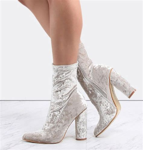 High Heel Ankle Boots Velvet shoes velvet ankle boots high heel ankle boots heels