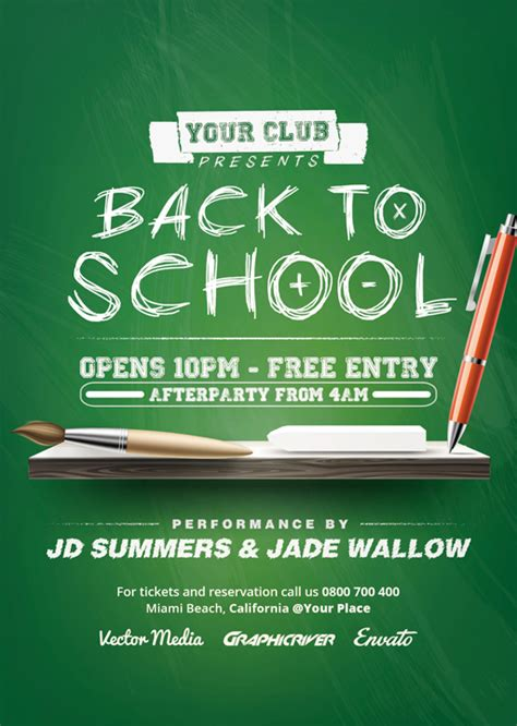 back to school flyer template back to school flyer on behance