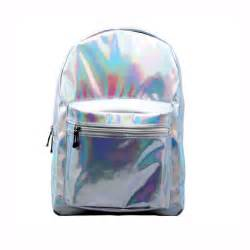 Cheap Kitchen Furniture silver shiny metalic galaxy hologram holographic backpack