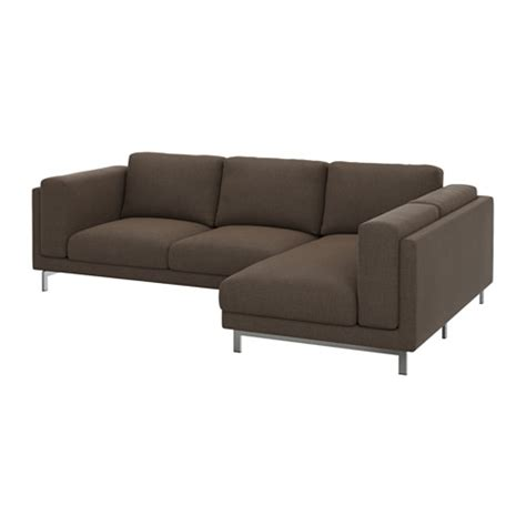 nockeby cover for 3 seat sectional right ten 246 brown ikea