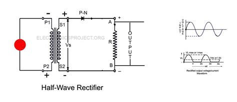 rectifier diode half wave single phase half wave rectifier electronics project